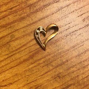 Jewelry - 14K gold heart and diamond pendant